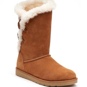 SO Image Women's Suede Mid-Calf Boots